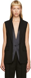 Alexander Wang Black Layered Vest