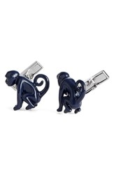 Ted Baker London Futball Monkey Cuff Links Navy