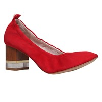 Kg By Kurt Geiger Essence Block Heeled Court Shoes Red