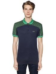 Hugo Boss Two Tone Printed Fine Pique Golf Polo