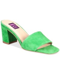 Mojo Moxy Ceci Block Heel Mules Women's Shoes Green