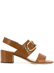 Tod's Open Toe Sandals Brown