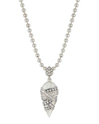 Lagos Embrace Diamond Teardrop Pendant Necklace