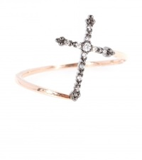 Stone Grace 18Kt Rose Gold Ring With Diamonds Grey