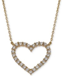 Giani Bernini Cubic Zirconia Heart Pendant Necklace In 18K Gold Plated Sterling Silver Only At Macy's