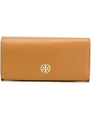 Tory Burch Foldover Wallet Nude And Neutrals