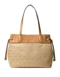 Michael Michael Kors Logo Accent Shoulder Bag Camel