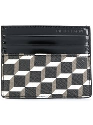 Pierre Hardy Geometric Print Cardholder Leather Black