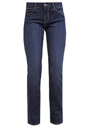 Wrangler Drew Straight Leg Jeans Easy Blue Dark Blue Denim