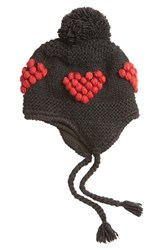 Nirvanna Designs Women's Bobble Stitch Heart Earflap Hat