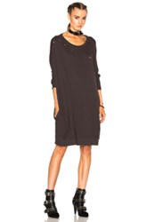 R 13 R13 Dolman Sweatshirt Dress In Gray