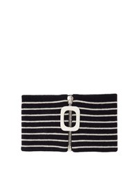 J.W.Anderson Striped Merino Wool Neckband Navy White
