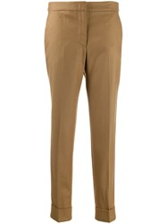 Pt01 High Waisted Trousers Brown