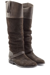 Golden Goose Leather Suede Riding Boots Brown