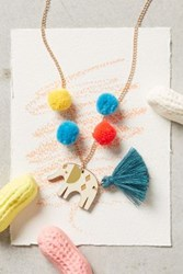 Anthropologie Playdate Necklace Elephant
