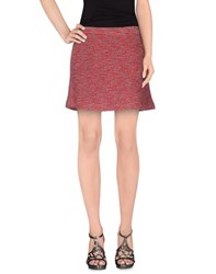 Armani Jeans Skirts Mini Skirts Women Red