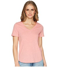 Lole Libia Tee Desert Flowers Heather Short Sleeve Pullover Coral