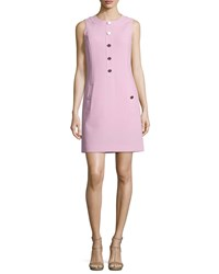 Michael Kors Sleeveless Button Front Shift Dress Oleander Women's