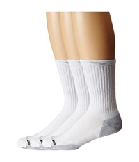 Drymax Sport Crew 3 Pair Pack White Grey Quarter Length Socks Shoes