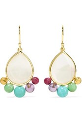 Ippolita Nova 18 Karat Gold Multi Stone Earrings One Size