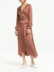 Second Female Spotty Wrap Dress Rustic Brown