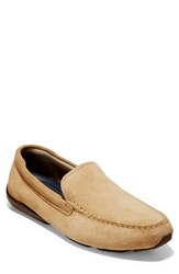 Cole Haan Branson Driving Shoe Iced Coffee Suede