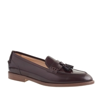 J.Crew Biella Tassel Loafers Deep Maple
