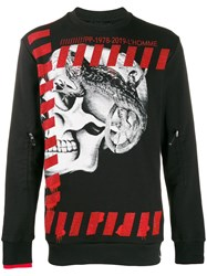 Philipp Plein Skull Print Sweater Black