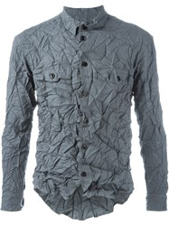 Julien David Crinkly Shirt Grey