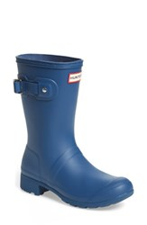 Hunter Women's Original Tour Short Packable Rain Boot Dark Earth Blue