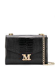 Max Mara Crocodile Effect Monogram Crossbody Bag 60
