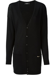 Dsquared2 V Neck Cardigan Black
