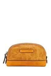 Frye Michelle Leather Makeup Bag Yellow