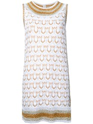 Missoni Patterned Knit Mini Dress Women Cotton Polyester Cupro 44 White