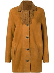 Closed Reversible Shearling Coat Nude And Neutrals