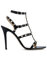 Valentino Garavani Rockstud Leather Sandals Black