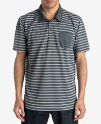 Quiksilver Men's Striped Approach Polo Dark Slate