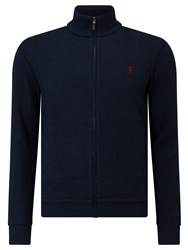 Polo Ralph Lauren Full Zip Jersey Top Navy Heather