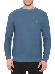 Original Penguin Link Stitch Crew Neck Jumper Dark Denu
