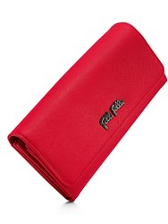 Folli Follie Saffiano Long Fold Wallet Red