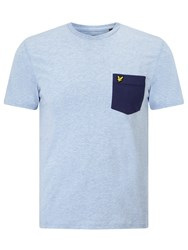 Lyle And Scott Contrast Pocket T Shirt Blue Marl