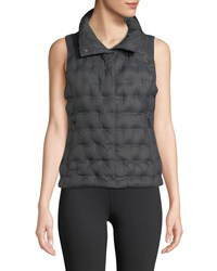 The North Face Holladown Zip Front Crop Vest Asphalt Grey