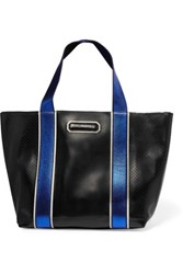 Karl Lagerfeld Perforated Leather Tote Black