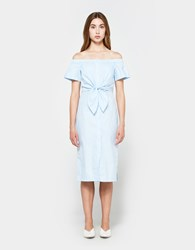 Farrow Maria Button Down Dress In Light Blue