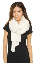 White Warren Cashmere Travel Wrap Scarf White