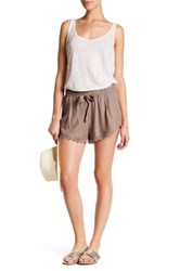 Melrose And Market Lace Trim Short Petite Brown