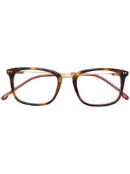 Carrera Tortoiseshell Square Frame Glasses Brown