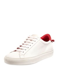 Givenchy Urban Street Leather Low Top Sneaker White Red White Red