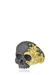 David Yurman Waves Skull Gold And Silver Ring