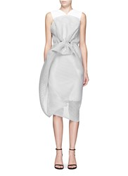 Maticevski 'Matriach' Embroidered Floral Bonded Mesh Cocktail Dress Grey